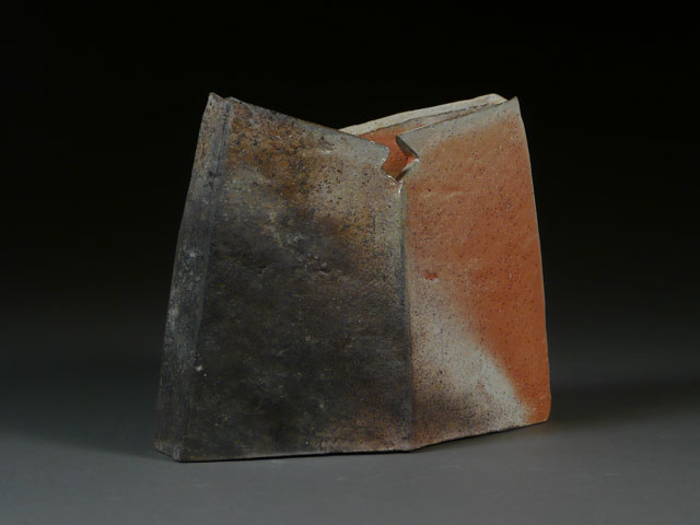 Shield Vase | wood-fired stoneware, 9 x 10 x 3,  2012