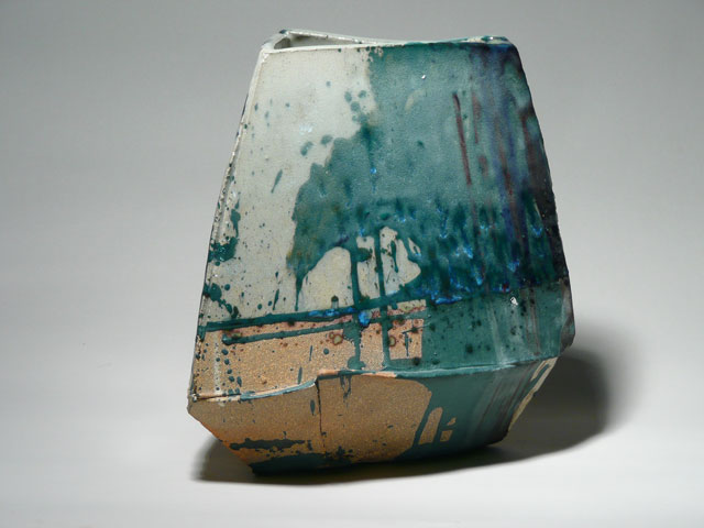 Reduction glazed stoneware, 13 x 12 x 12