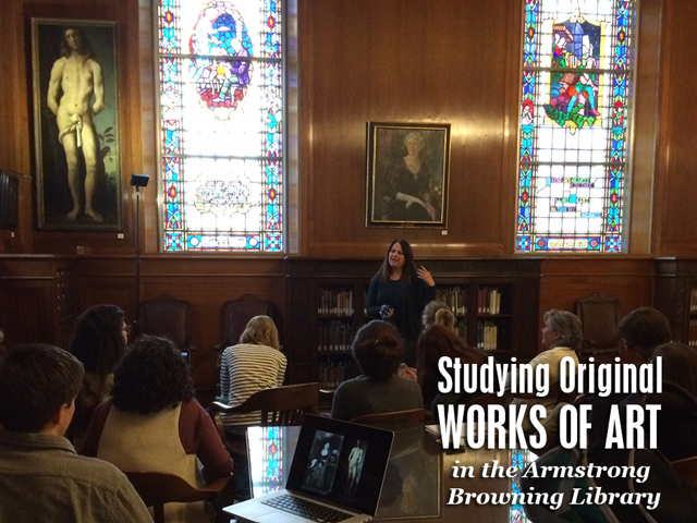 Class taught in the Armstrong Browning Library