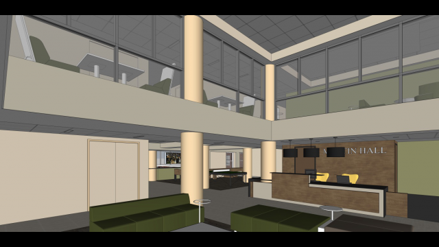 Martin Hall rendering upper space