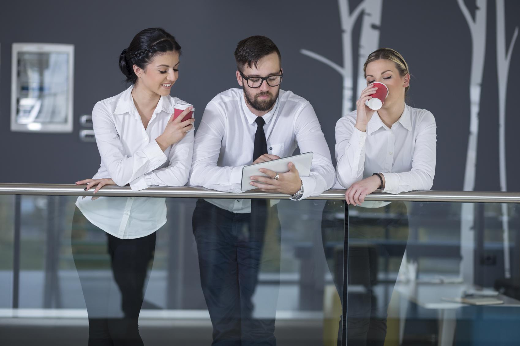 Stock photo of an informal business meeting