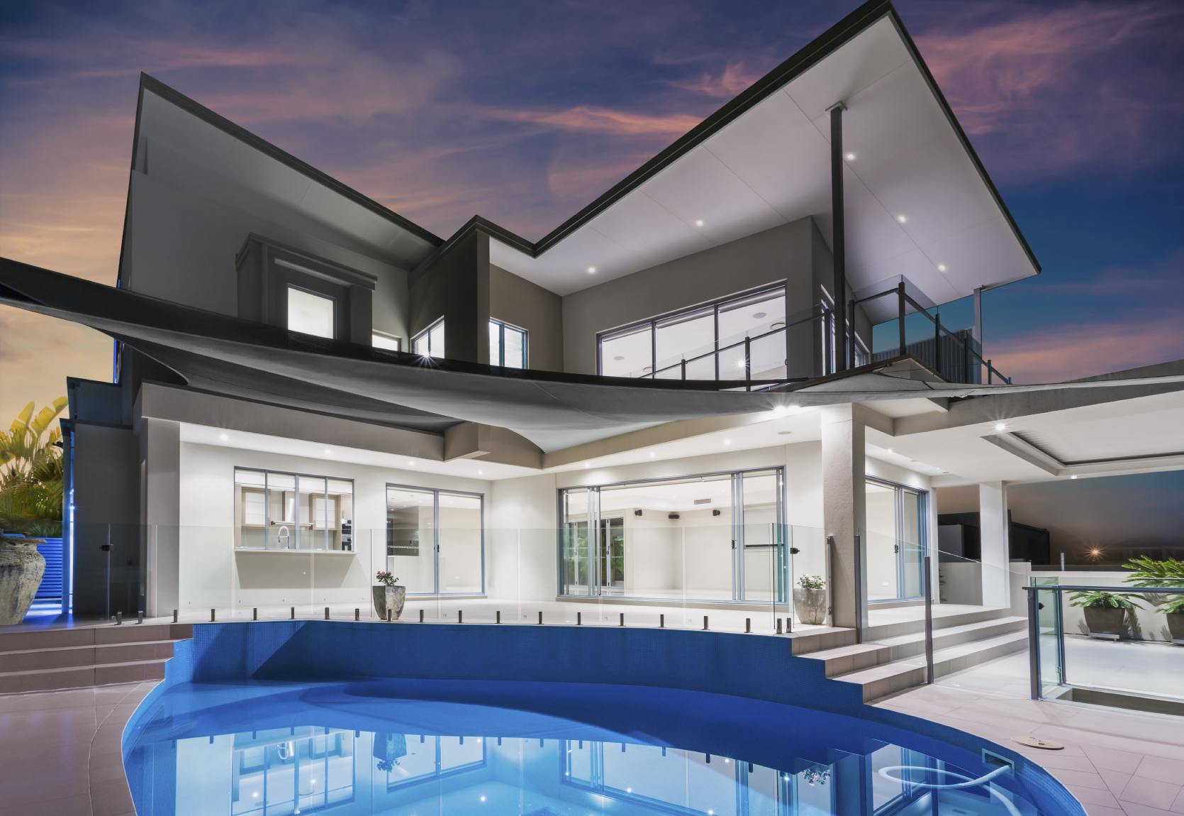 stock photo of a modern home