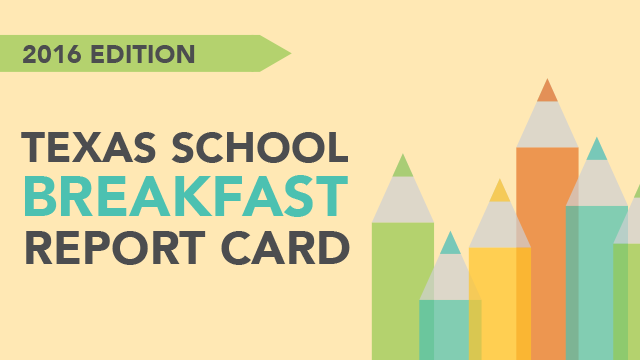 Texas School Breakfast Report Card