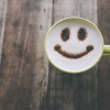 [Smiley coffee cup]
