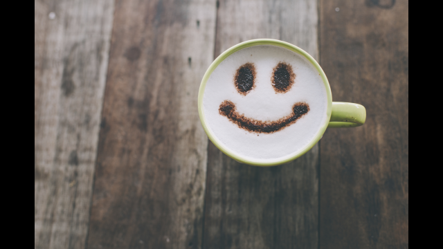 Smiley coffee cup