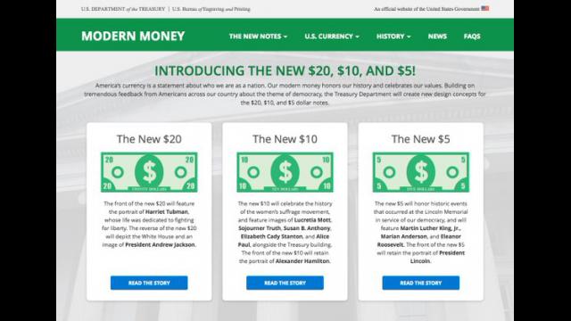 Treasury web page