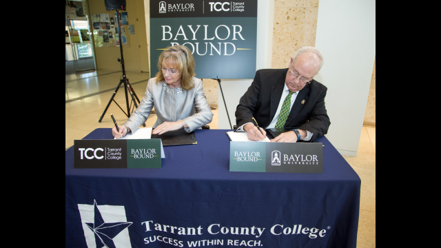Baylor University and Tarrant County College Announce Partnership on New 'Baylor Bound' Transfer Agreement