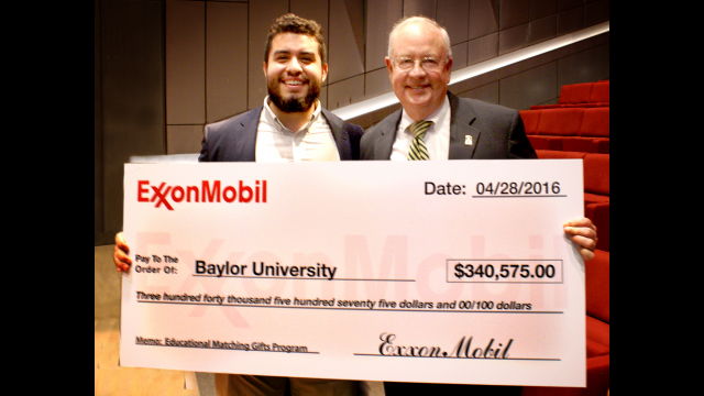 ExxonMobil check presentation Judge and Alum 2
