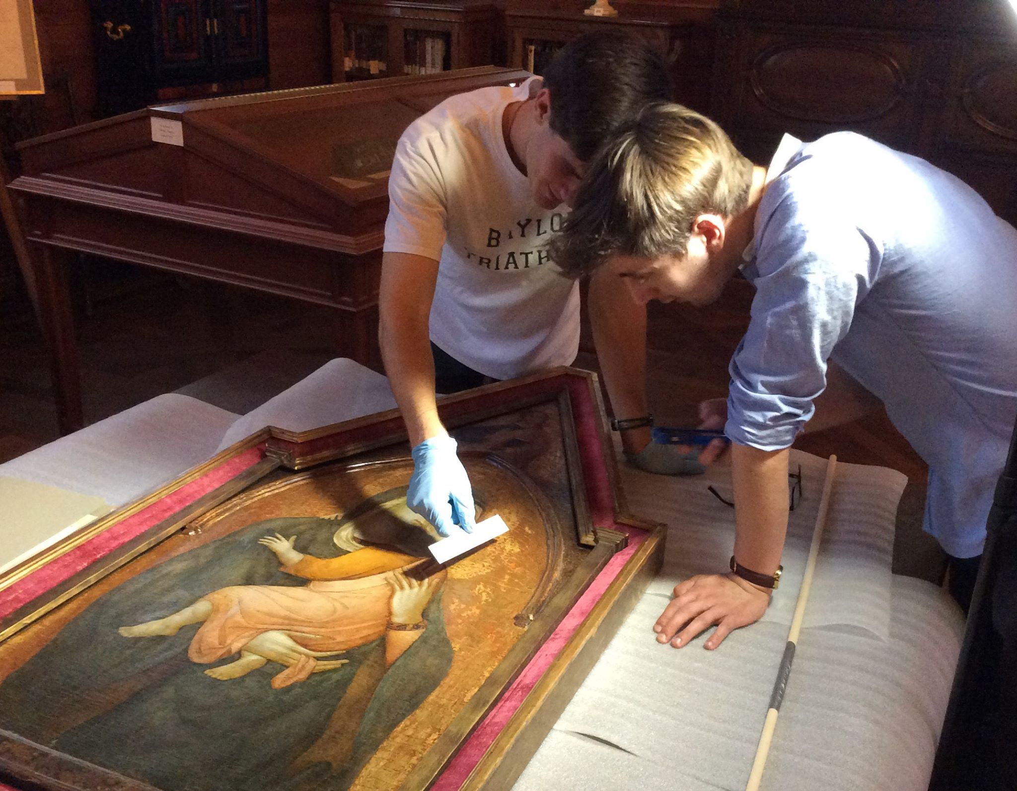 Advanced Art History Students conducting primary research on Renaissance painting