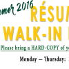 Resume <br>Walk-In Hours