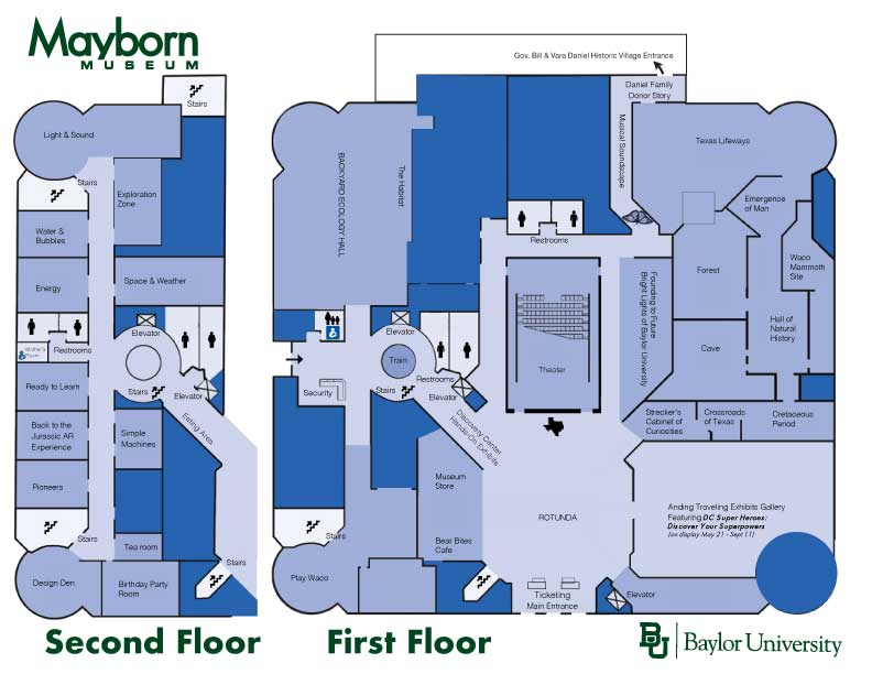 Mayborn Museum Complex Map