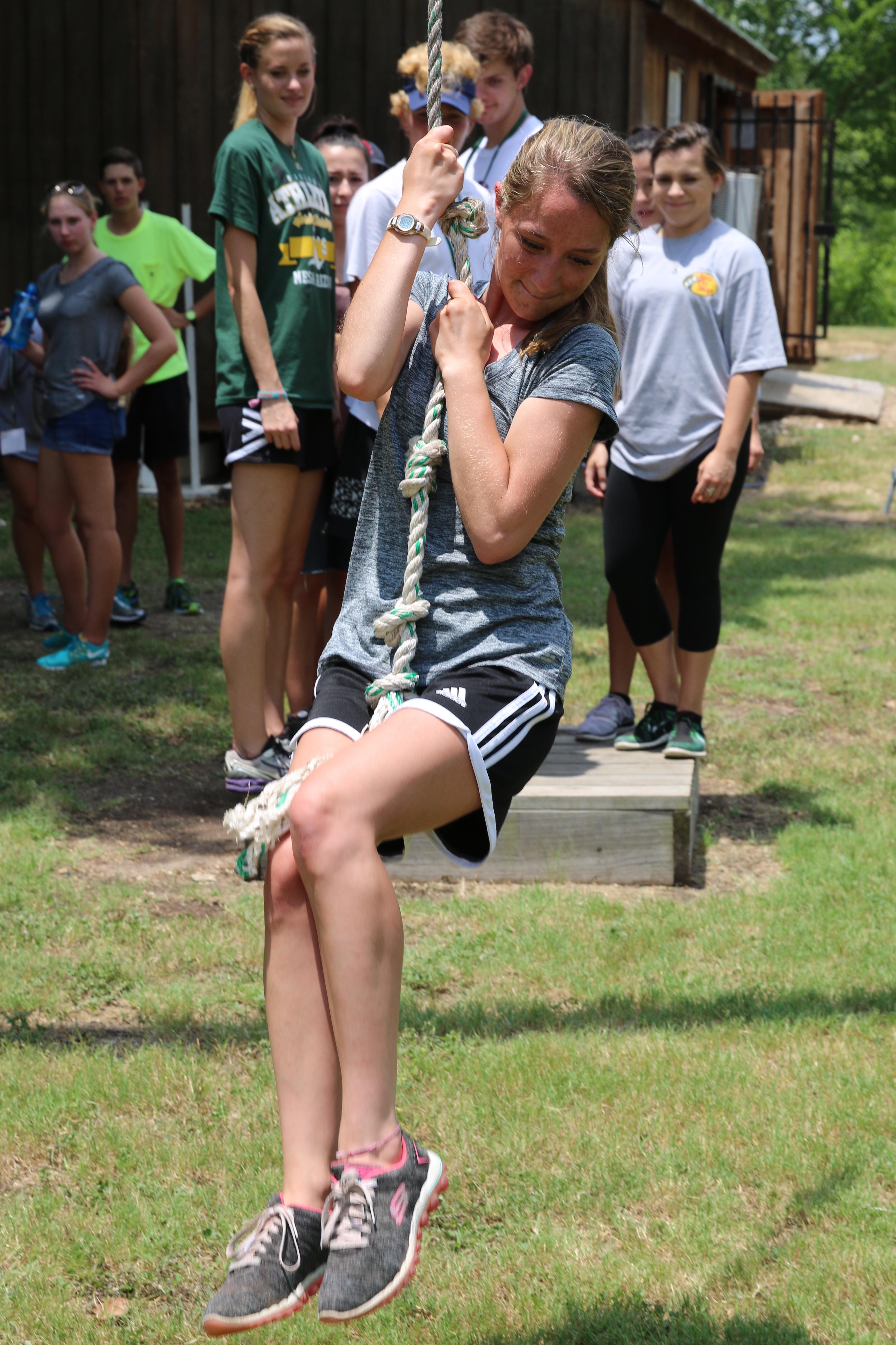 CLI 2016 CC girl on rope swing