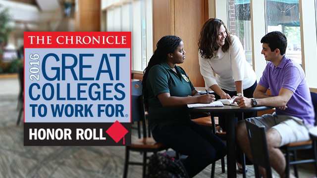 Baylor University Named a '2016 Great College to Work For' by The Chronicle of Higher Education