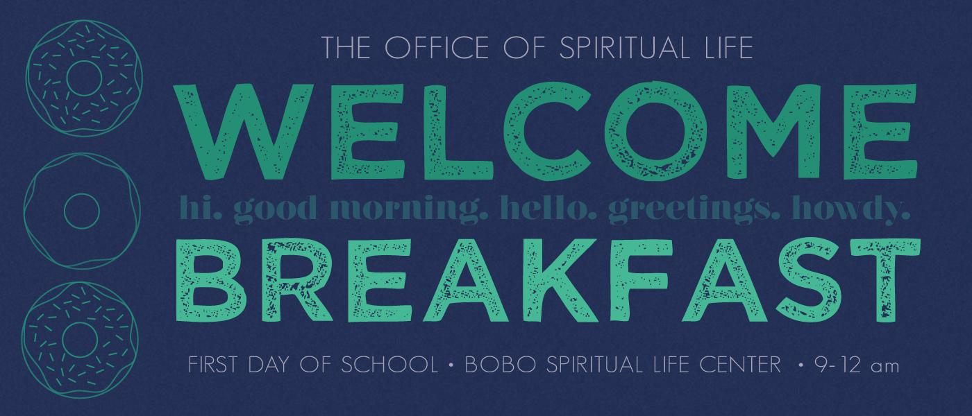 Fall 2016 Welcome Breakfast