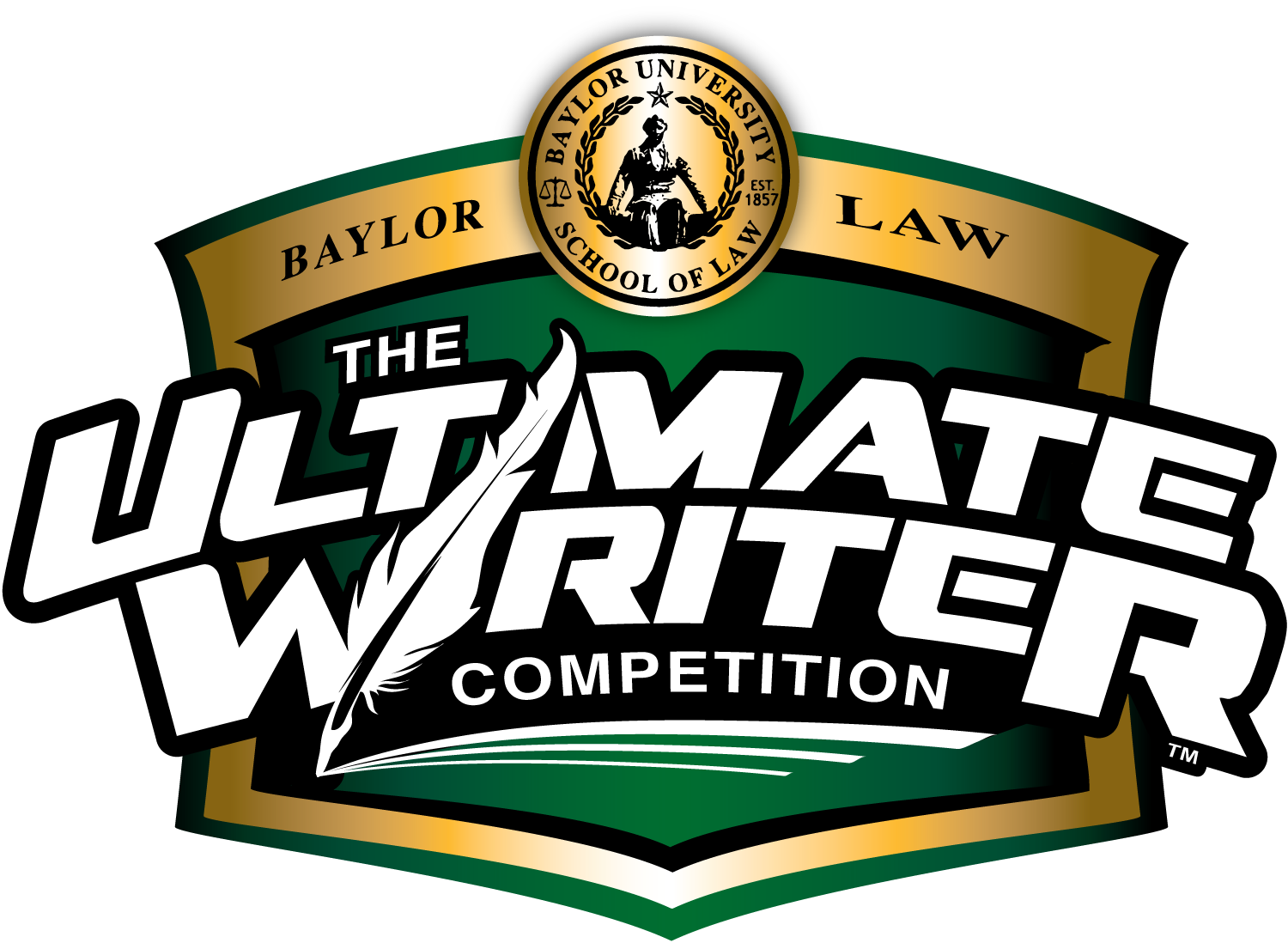 graphic that resembles a trophy announcing the Ultimate Writer competition