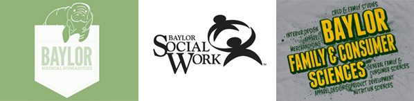 Logos of community partners: Baylor Medical Humanities, Family and Consumer Sciences, School of Social Work