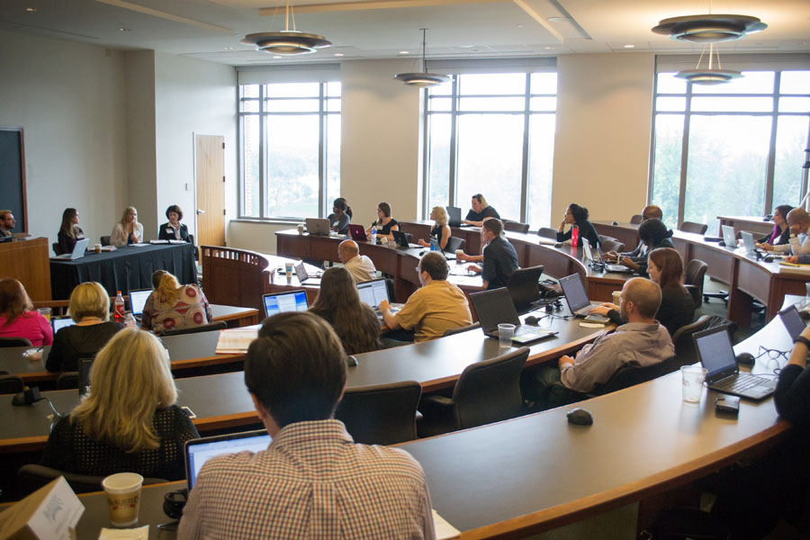 A full Baylor Law classroom greets the Legal Mapmaker Clinic