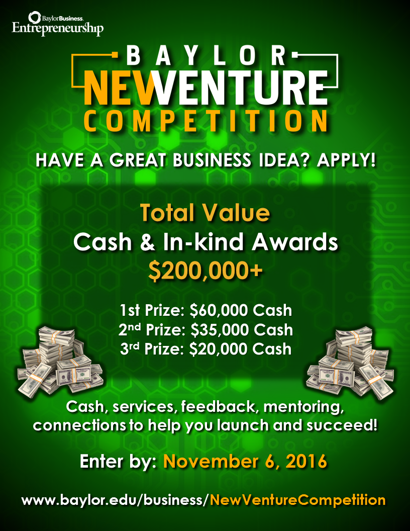 Apply to 2017 Baylor New Venture Competition