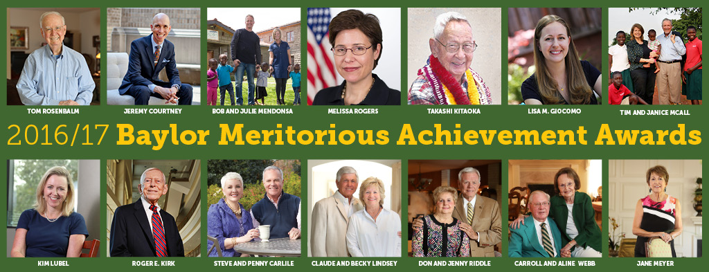 Collage of all the Meritorious Achievement Award Winners