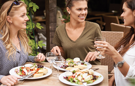 Stock photo of women dining together