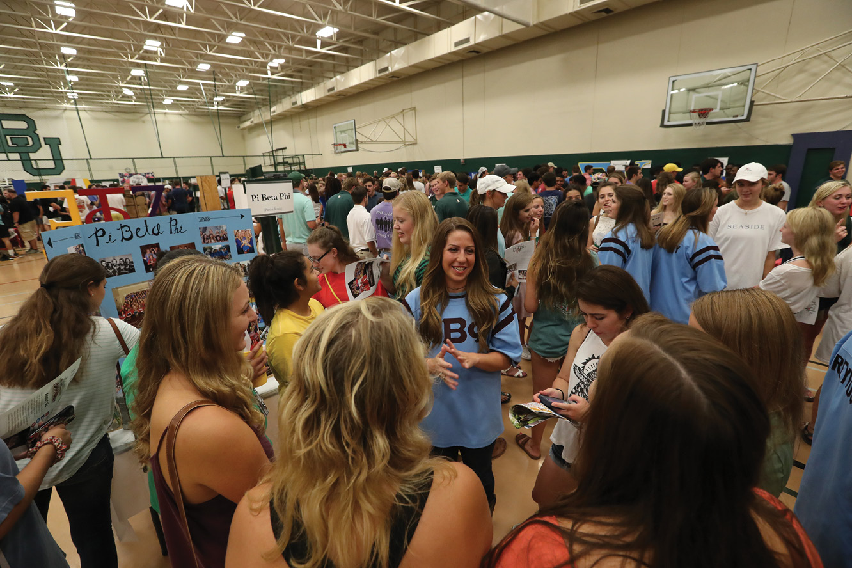 Photo of student organizations gathering