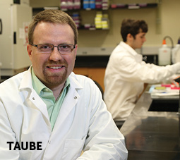 Headshot of Dr. Taube in his lab