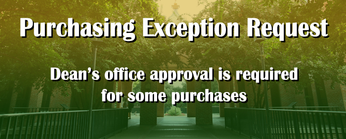 Purchasing Exception Request
