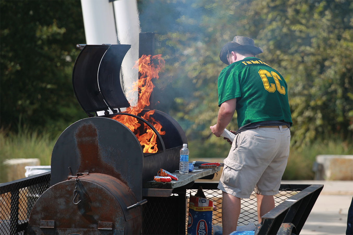 Tailgating, sailgating and on-campus football
