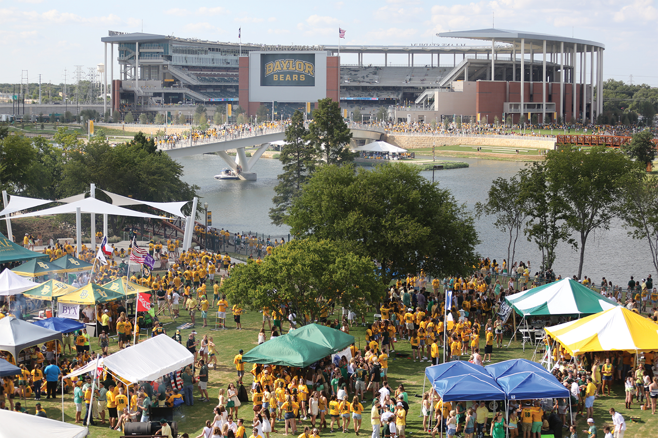 Tailgating, sailgating, and on-campus football