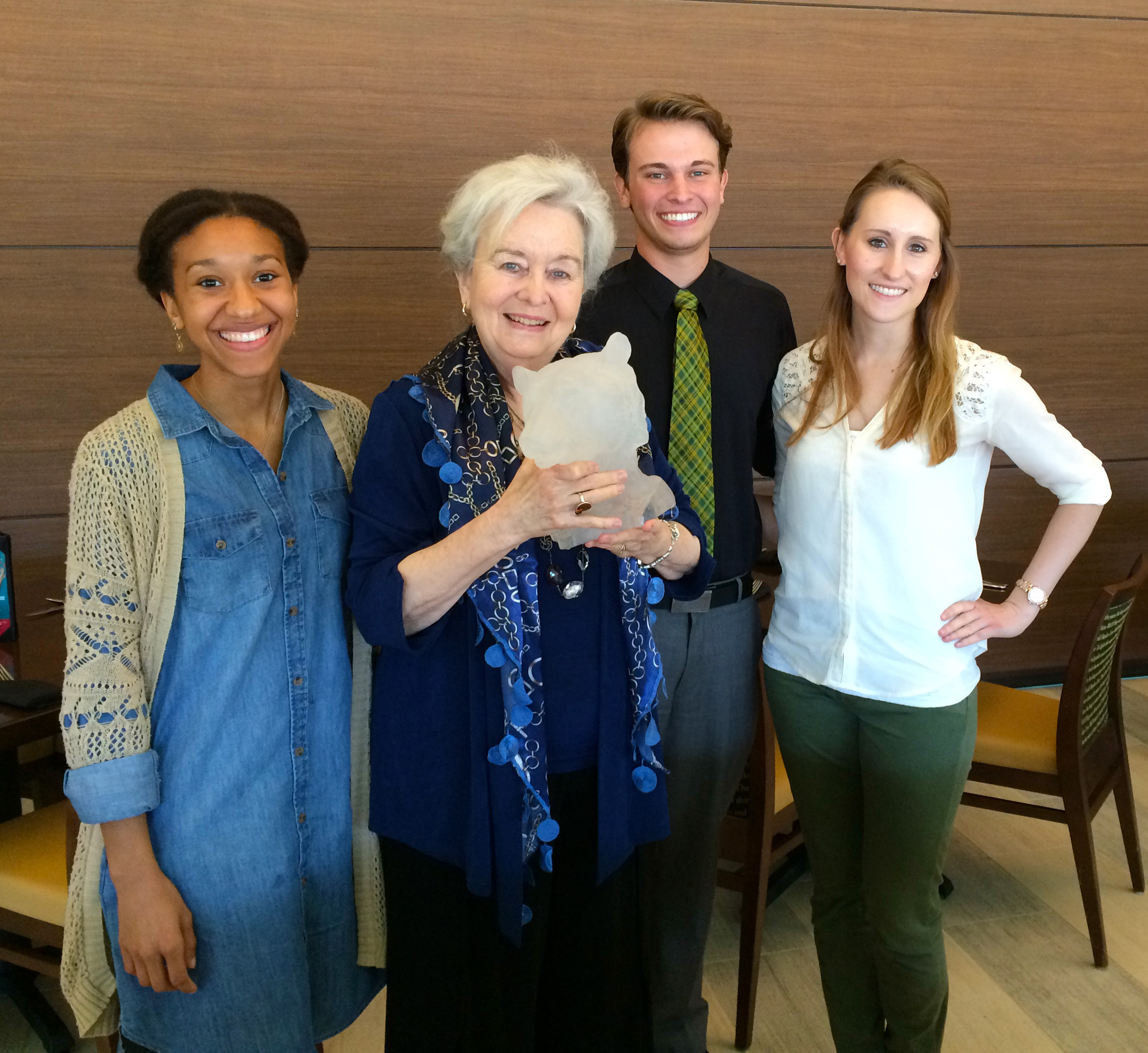 2016 URSA Award Recipients (left to right): Jade Conner, Elizabeth Vardaman,Tanner Hood and Mallory Meyers
