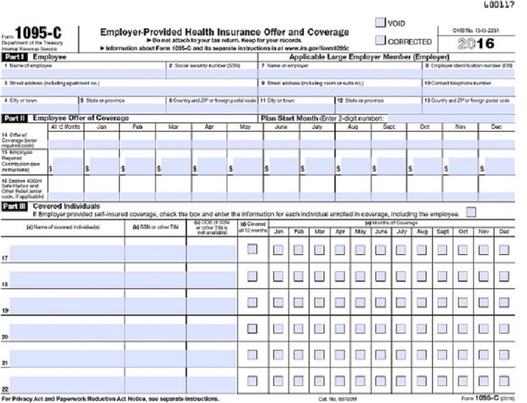 Form 1095-C | Payroll | Baylor University