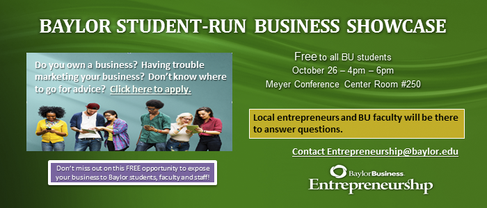 Banner: Student-Run Business Showcase Oct 2016