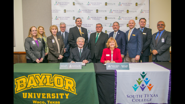 Baylor University and South Texas College Announce Partnership on New 'Baylor Bound' Transfer Agreement