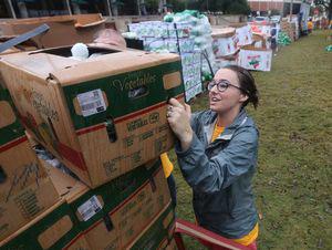 Cara Allen helps organize Free Farmers Market