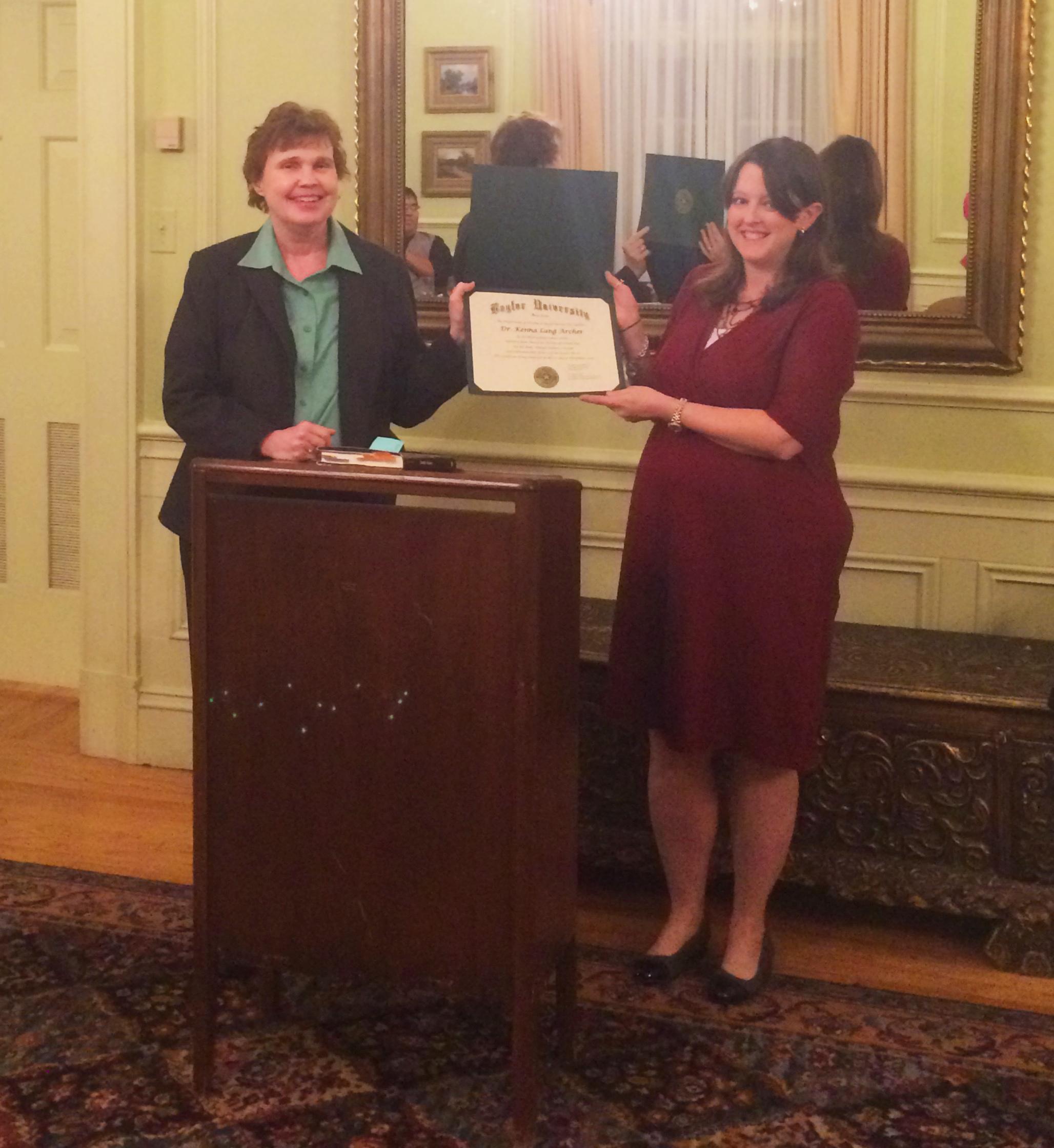 Guittard Dinner 2016 - Dr. Archer Receiving Award