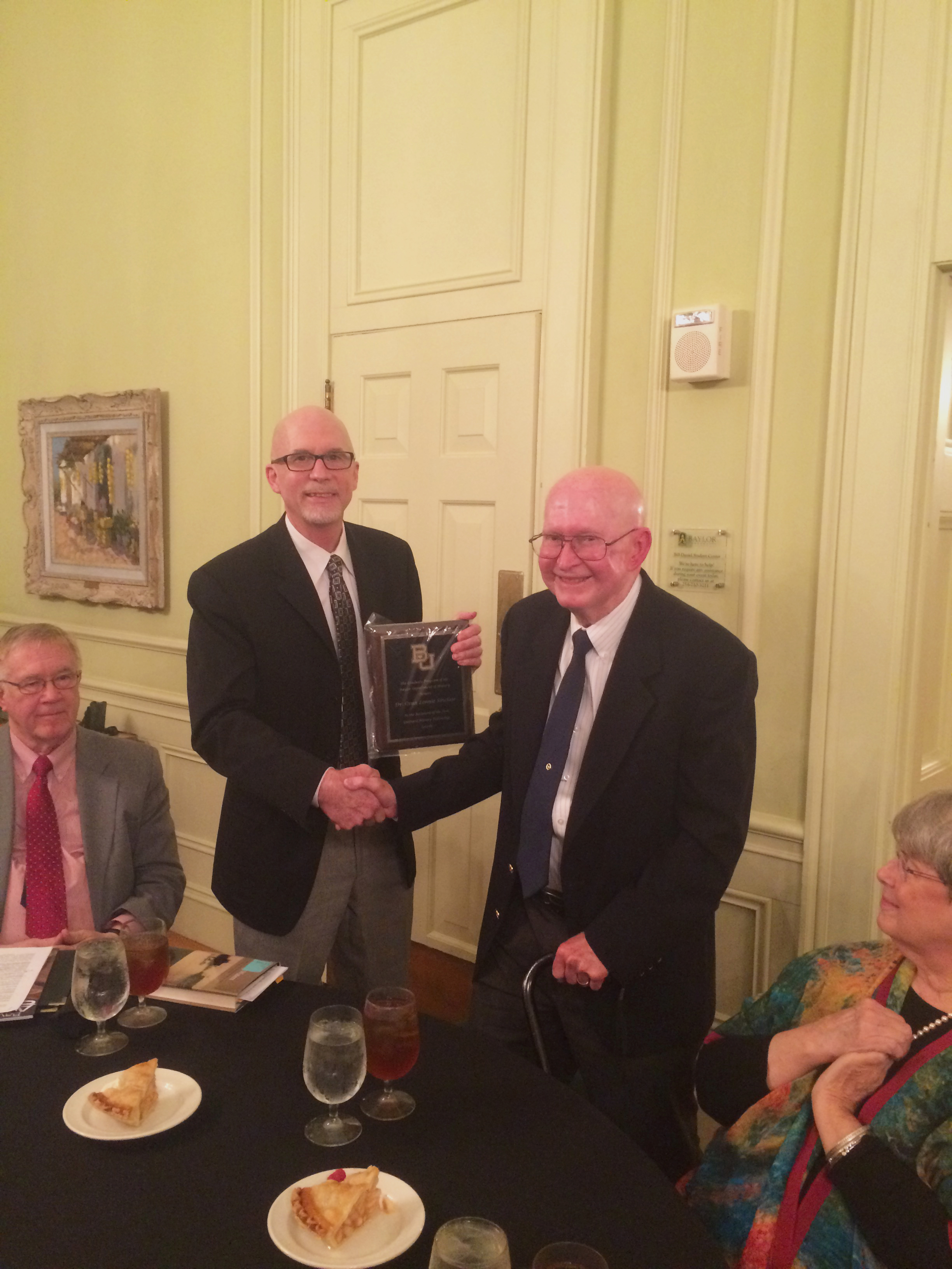 Guittard Dinner 2016 - Dr. Hankins and Dr. Sinclair