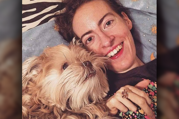 Photo of Allison Dickson and her dog