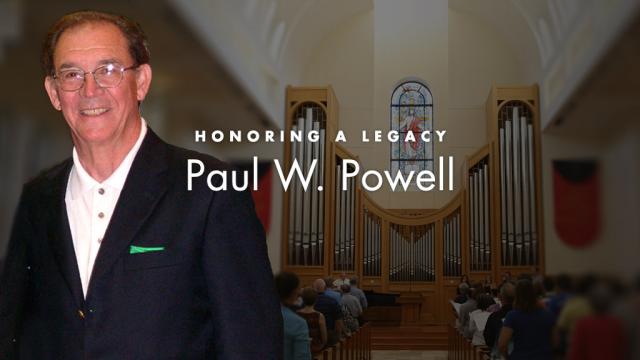 Paul W. Powell memorial graphic