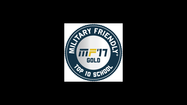 Military Friendly 2017 Top 10 Gold Logo