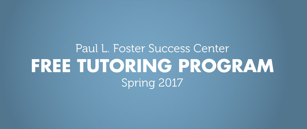 Free tutoring for students at the Success Center