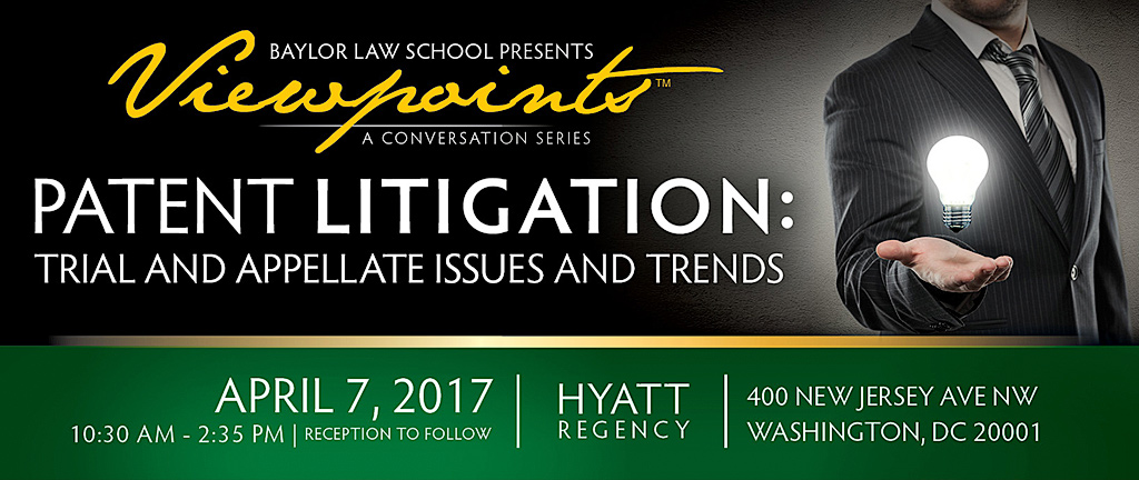 Banner for Patent Litigation Seminar