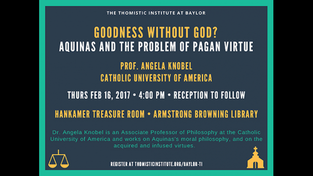 Catholic University of America Professor Angela Knobel Presents