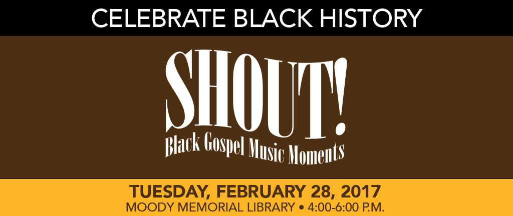 SHOUT! Black Gospel Music Moments featuring Robert Darden