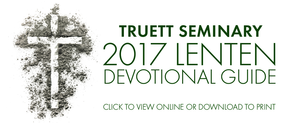 2017 Lenten Devotional Guide