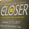 Baylor Law Hosts Inaugural The Closer National Transactional Law Competition