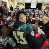 Baylor Football Players Team Up with the Texas Hunger Initiative to Promote Breakfast