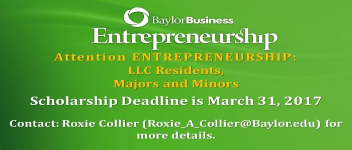 Banner: ENT Scholarship Info