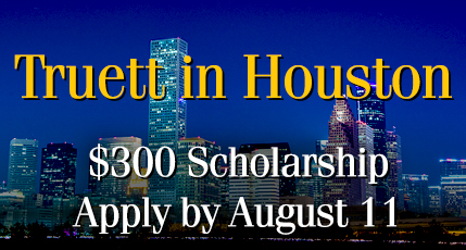 $300 Scholarship for Truett Classes in Houston!