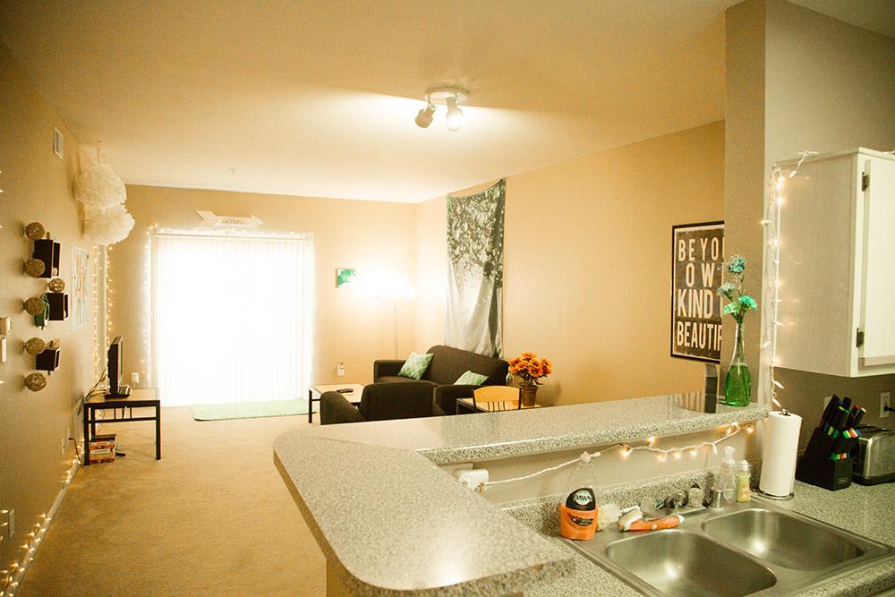 4 Bedroom Apartment-Living Room