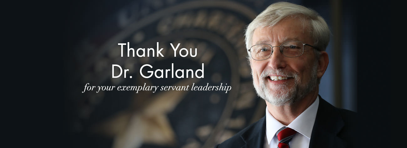 Thanking Dr. David Garland